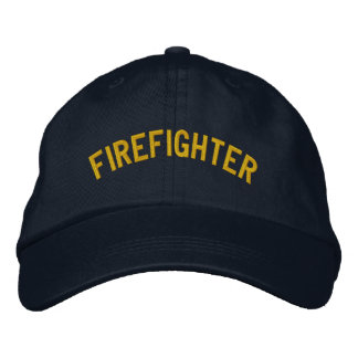 FIREFIGHTER EMBROIDERED BASEBALL CAPS