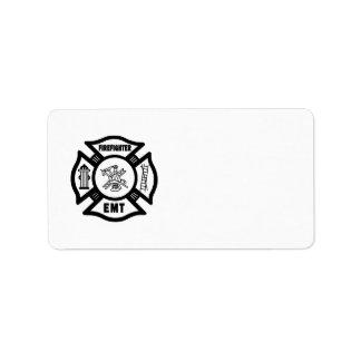 Firefighter EMT Address Label