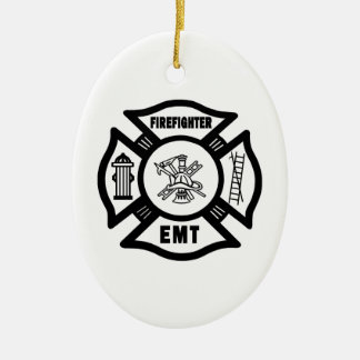 Firefighter EMT Christmas Ornament