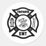 Firefighter EMT Round Sticker
