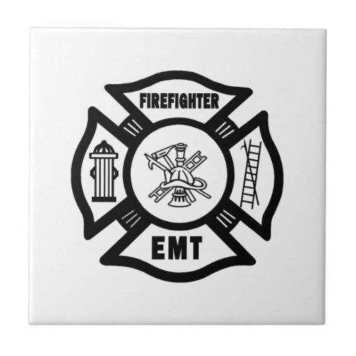 Firefighter EMT Ceramic Tiles
