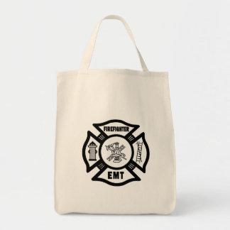 Firefighter EMT Grocery Tote Bag