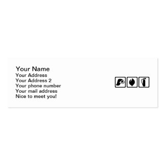 Firefighter equipment Double-Sided mini business cards (Pack of 20)
