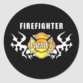Firefighter Family Classic Round Sticker
