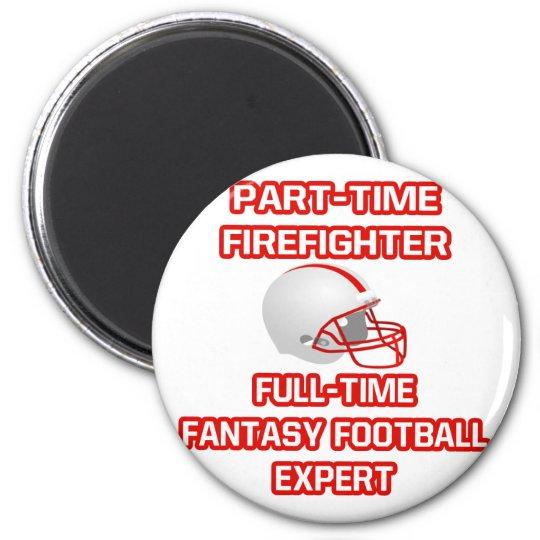 Firefighter .. Fantasy Football Expert 6 Cm Round Magnet
