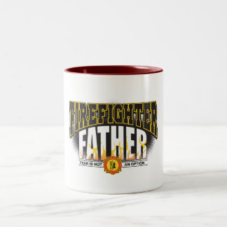 Firefighter Father Two-Tone Mug