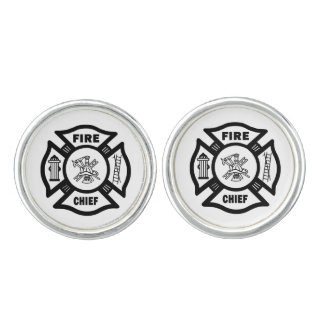 Firefighter Fire Chief Cufflinks