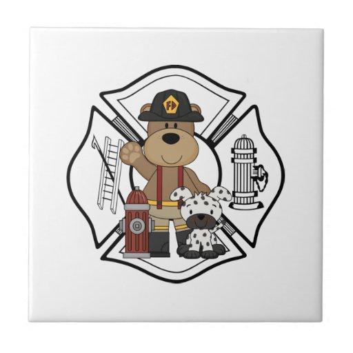 Firefighter Fire Department Tile