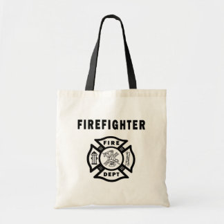 Firefighter Fire Dept Canvas Bags