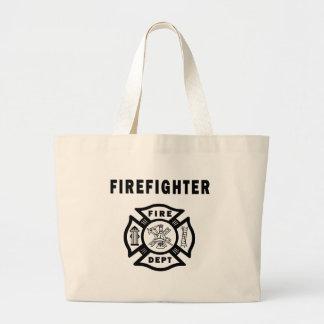 Firefighter Fire Dept Canvas Bags