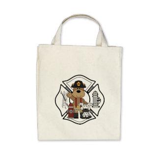 Firefighter Fire Dept Bear Tote Bag