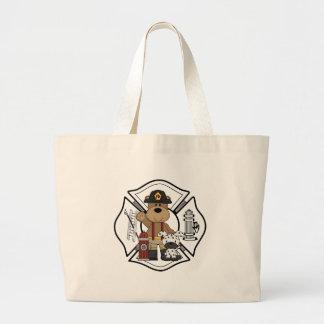 Firefighter Fire Dept Bear Jumbo Tote Bag