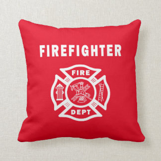 Firefighter Fire Dept Logo Throw Pillow