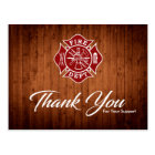 Firefighter / Fire Dept Thank You Postcard