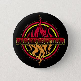 Firefighter Fire Logo 6 Cm Round Badge