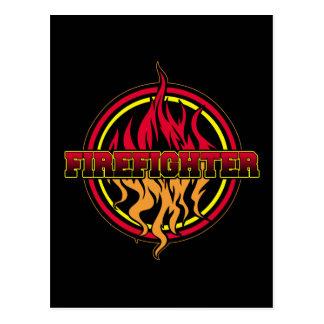 Firefighter Fire Logo Post Card