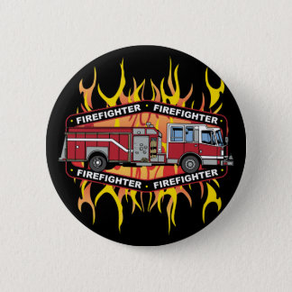 Firefighter Fire Truck 6 Cm Round Badge