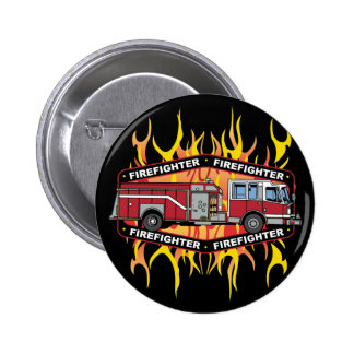 Firefighter Fire Truck 6 Cm Round Badge