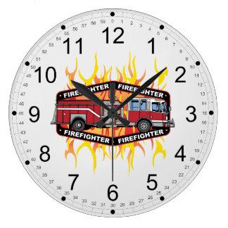 Firefighter Fire Truck Large Clock