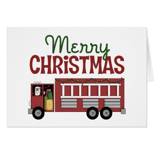 Firefighter/Fireman Christmas Card