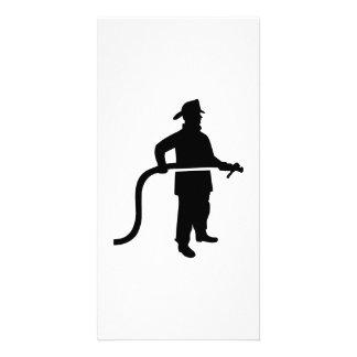 Firefighter Fireman Customized Photo Card