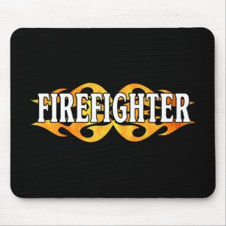 Firefighter Flames Mouse Mat