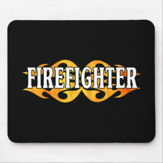 Firefighter Flames Mouse Pad