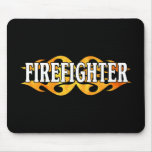 Firefighter Flames Mouse Pads