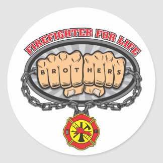 Firefighter for Life Classic Round Sticker