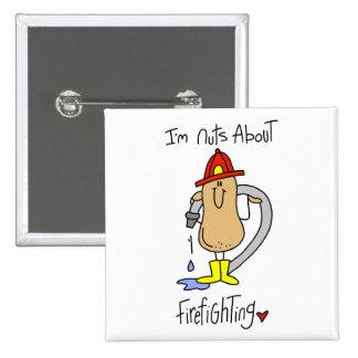 Firefighter Gift 15 Cm Square Badge