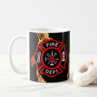 Firefighter Gift Mug   Fire Department Flames