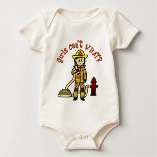 Firefighter Girl Baby Bodysuit