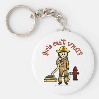 Firefighter Girl Key Ring
