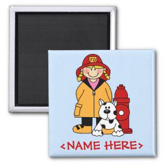 Firefighter (Girl) Magnet