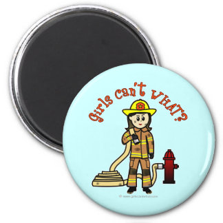 Firefighter Girl Magnet