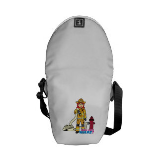 Firefighter Girl - Red Courier Bags