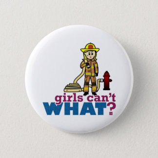 Firefighter Girls 6 Cm Round Badge