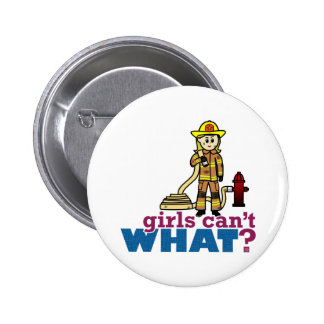 Firefighter Girls 6 Cm Round Badge