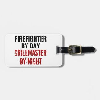 Firefighter Grillmaster Travel Bag Tag