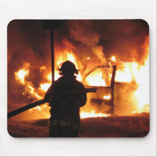 Firefighter Handline Mouse Pad