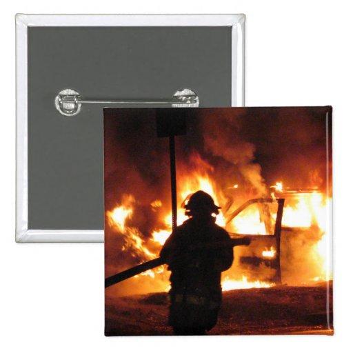 Firefighter Handline Pinback Buttons