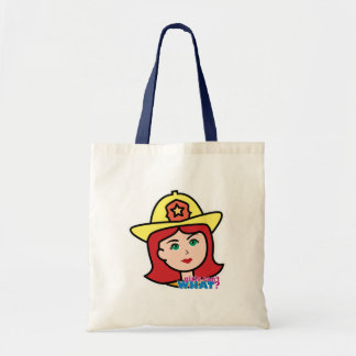 Firefighter Head Red Tote Bags