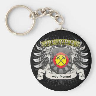 Firefighter Heraldry Key Ring