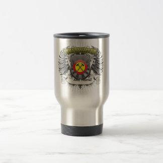 Firefighter Heraldry Stainless Steel Travel Mug