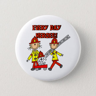 Firefighter Heroes 6 Cm Round Badge