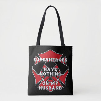 Firefighter husband tote