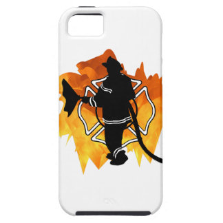 Firefighter In Flames Tough iPhone 5 Case