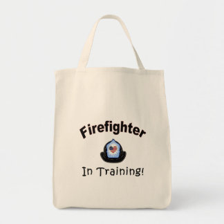 Firefighter In Training Canvas Bags