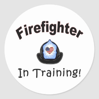 Firefighter In Training Classic Round Sticker