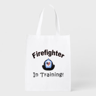 Firefighter In Training Reusable Grocery Bags